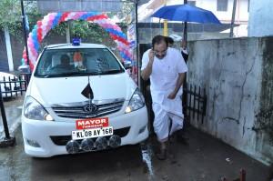 SIPSS GLOBAL INDIA PVT LTD Thrissur Regional Office inauguration function -        Mr. Rajan J Pallan  (Hon. Mayor Thrissur Municipal Corporation – Chief Guest) is arriving..