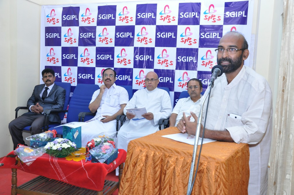 SIPSS GLOBAL INDIA PVT LTD Thrissur Regional Office inauguration function -      Mr. Paulson Alappatt (Chairman The Trichur Urban Corporative Bank) addressing the gathering