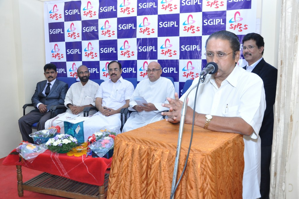 SIPSS GLOBAL INDIA PVT LTD Thrissur Regional Office inauguration function -        Mr. Thomas Kollannur (Vice President, The Chamber of Commerce) is addressing the gathering