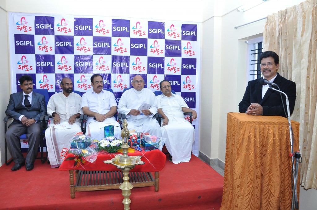 SIPSS GLOBAL INDIA PVT LTD Thrissur Regional Office inauguration function -          Mr. Stanley Jose Kuttichakku during his Thanking speech