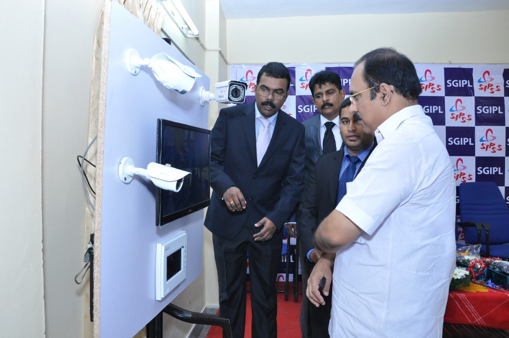SIPSS GLOBAL INDIA PVT LTD Thrissur Regional Office inauguration function -  Mr. C K Sreegith (Director Operations) & Colin Shanon Furtado (Zonal Manager- ESMG) Demonstrating CCTV / IPTV Offerings from SGIPL