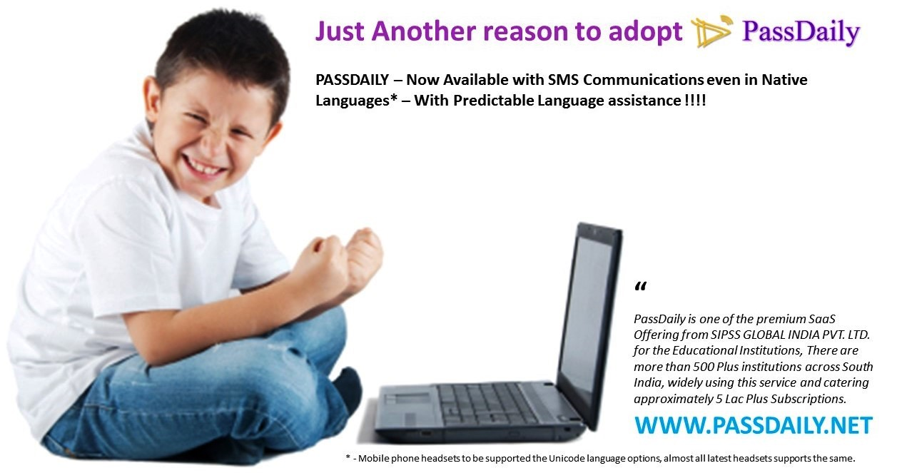 SMS Service, School Management Software,Passdaily